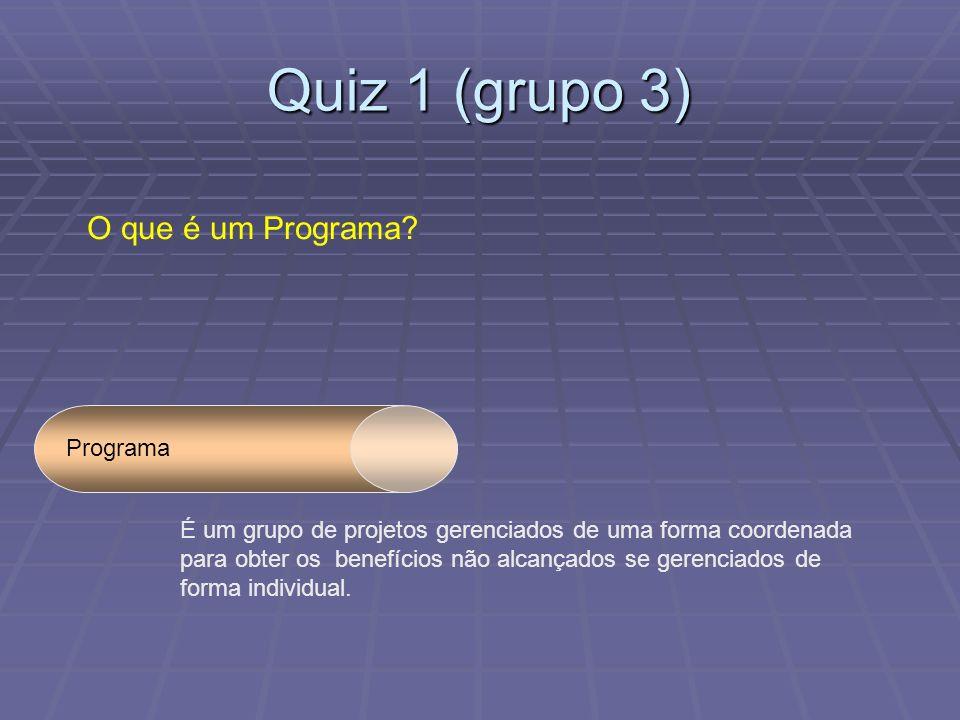Quiz 1 (grupo 3) O que é um Programa Programa