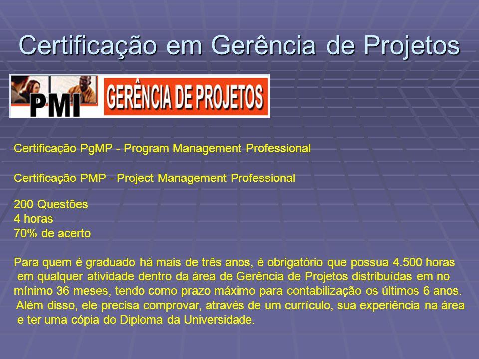 Certificação em Gerência de Projetos