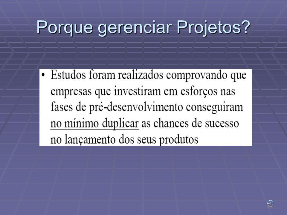 Porque gerenciar Projetos