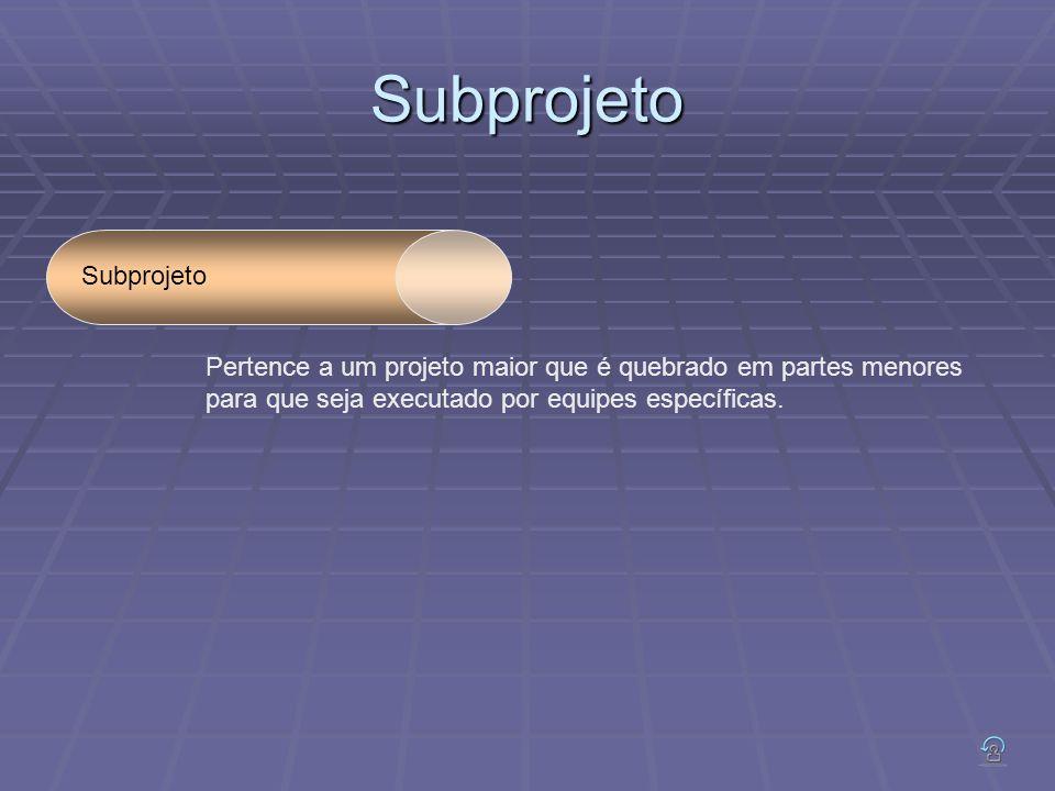 Subprojeto Subprojeto