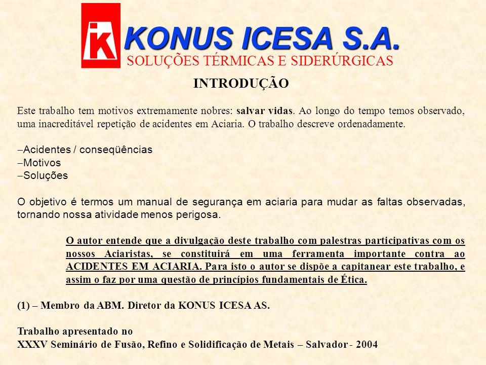 KONUS ICESA S.A. SOLUÇÕES TÉRMICAS E SIDERÚRGICAS INTRODUÇÃO