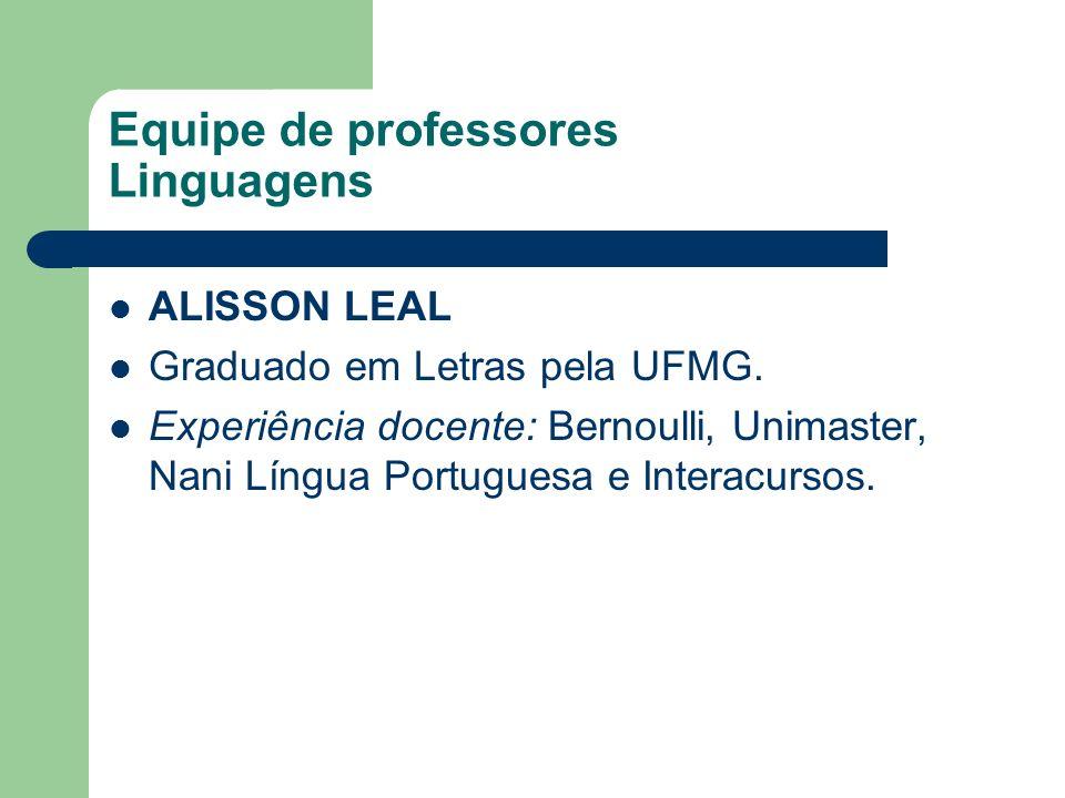 Equipe de professores Linguagens
