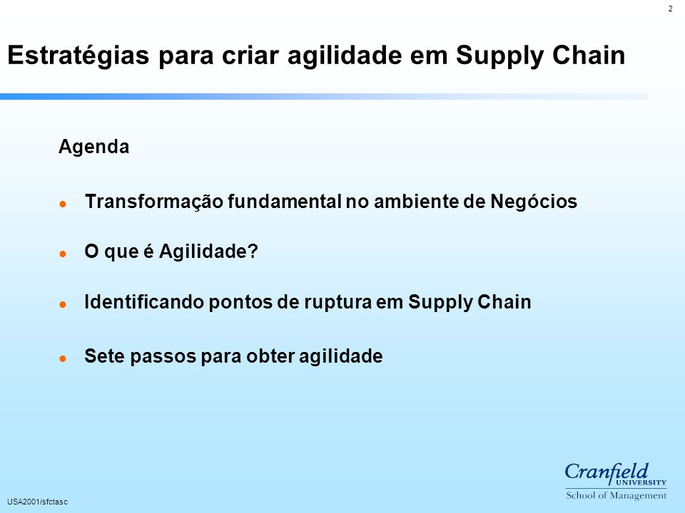 Estratégias para criar agilidade em Supply Chain