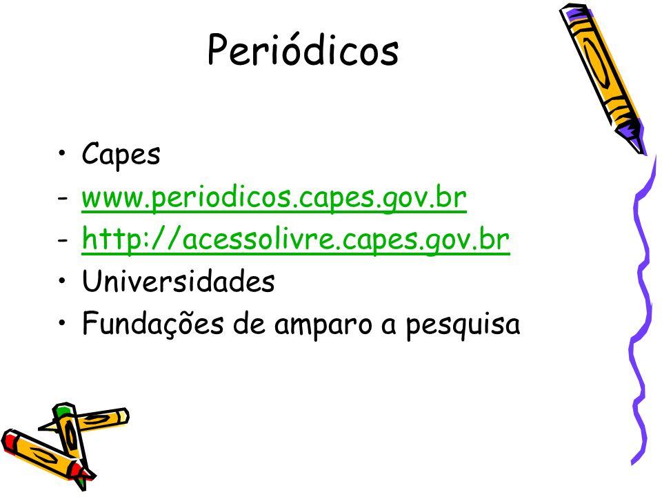 Periódicos Capes www.periodicos.capes.gov.br