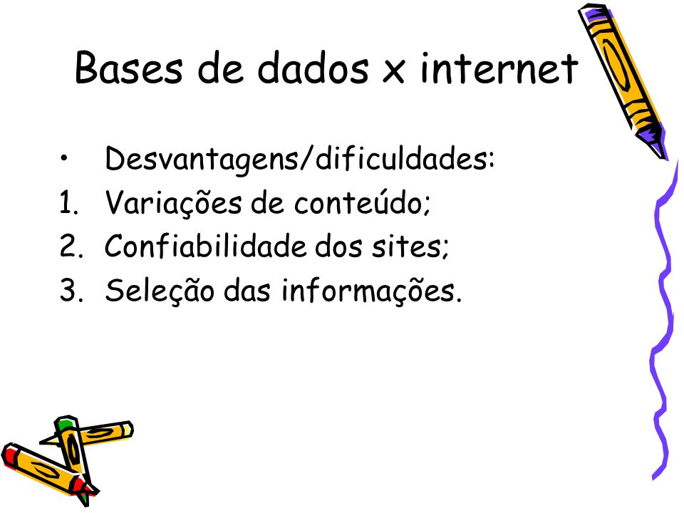 Bases de dados x internet