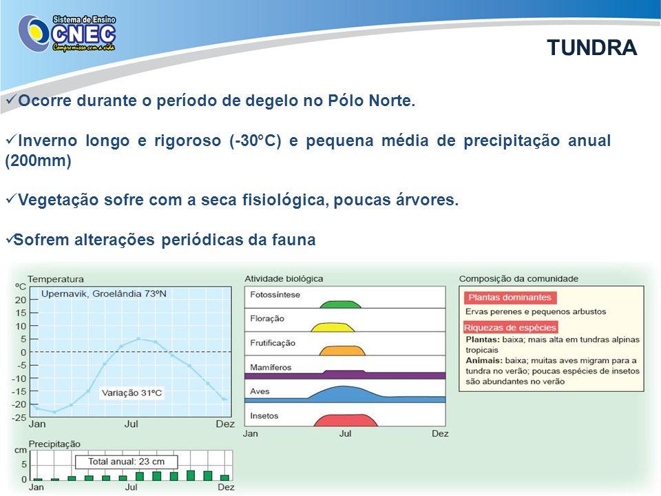 TUNDRA Ocorre durante o período de degelo no Pólo Norte.