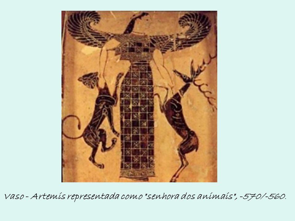 Vaso - Artemis representada como senhora dos animais , -570/-560.