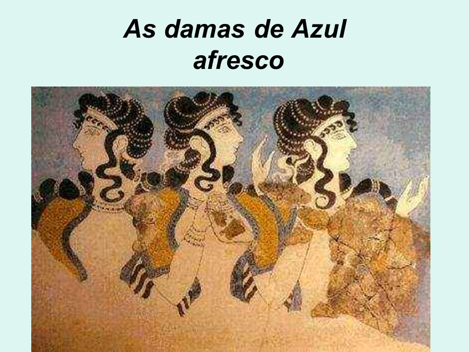 As damas de Azul afresco