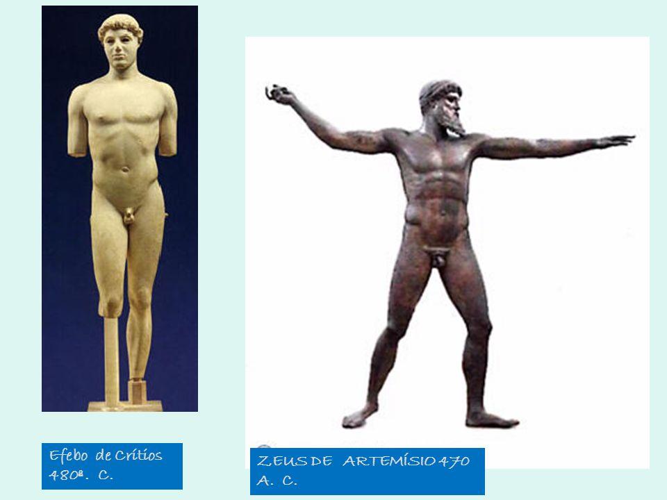 Efebo de Crítios 480ª . C. ZEUS DE ARTEMÍSIO 470 A. C.
