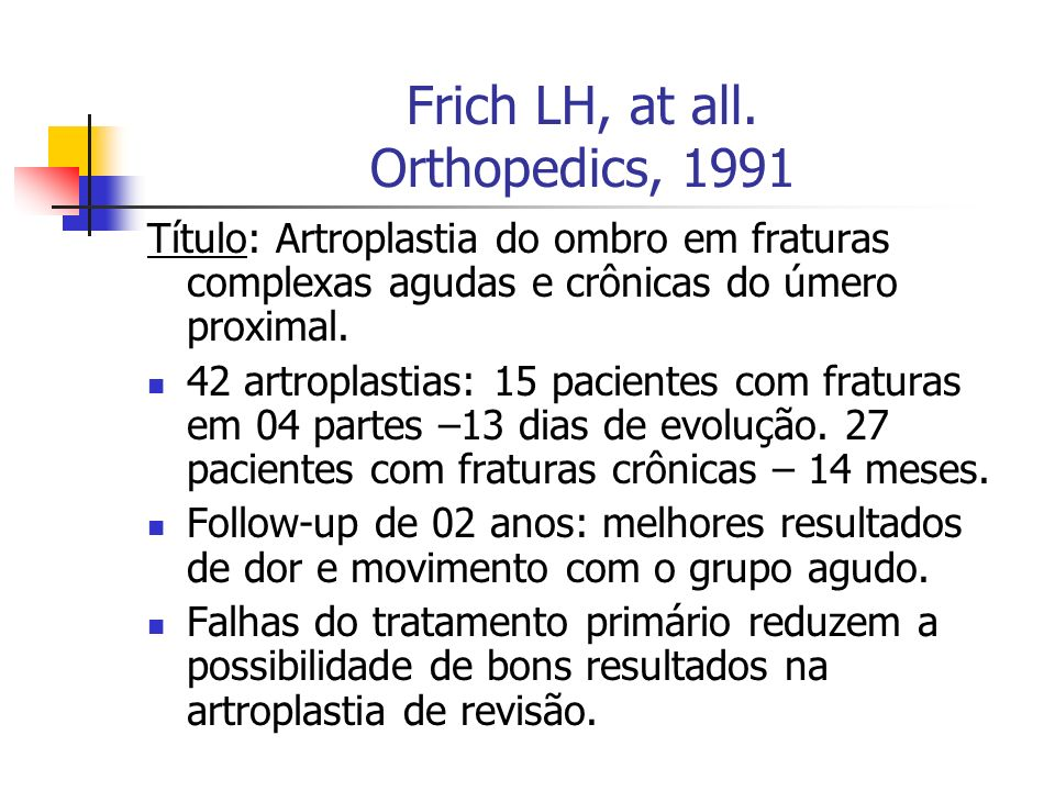 Frich LH, at all. Orthopedics, 1991