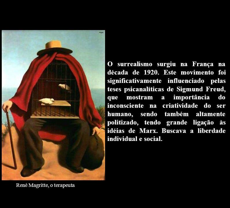 O surrealismo surgiu na França na década de 1920