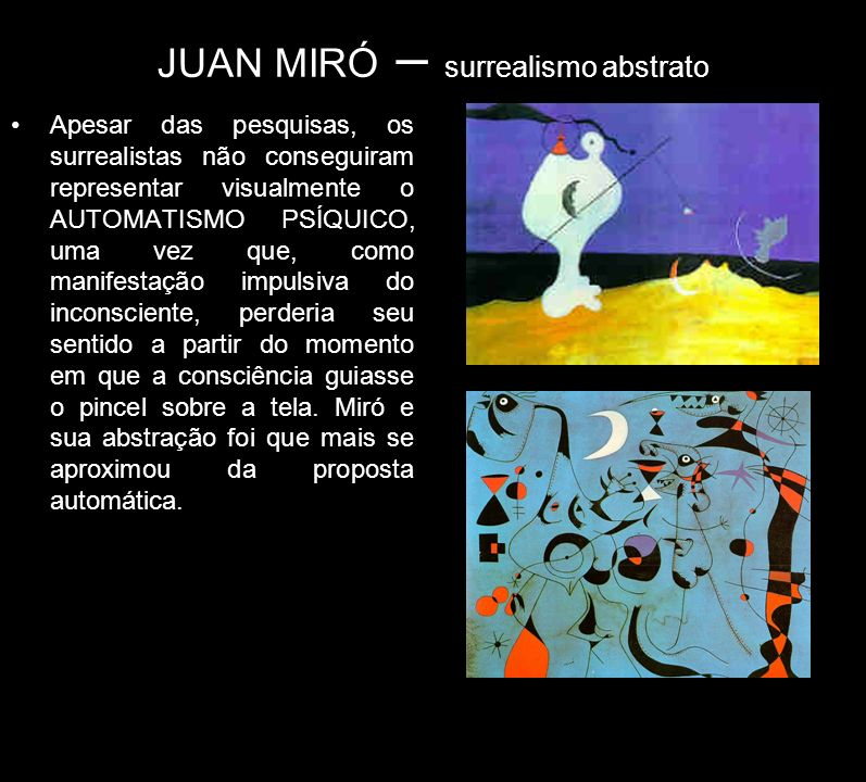 JUAN MIRÓ – surrealismo abstrato