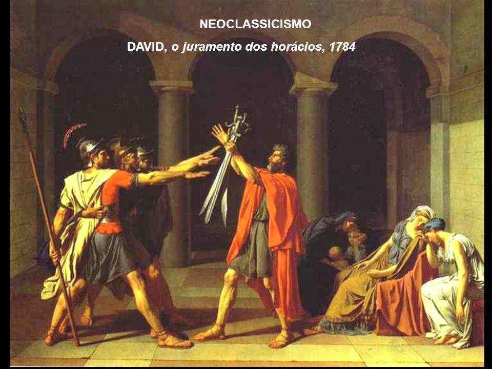 NEOCLASSICISMO DAVID, o juramento dos horácios, 1784