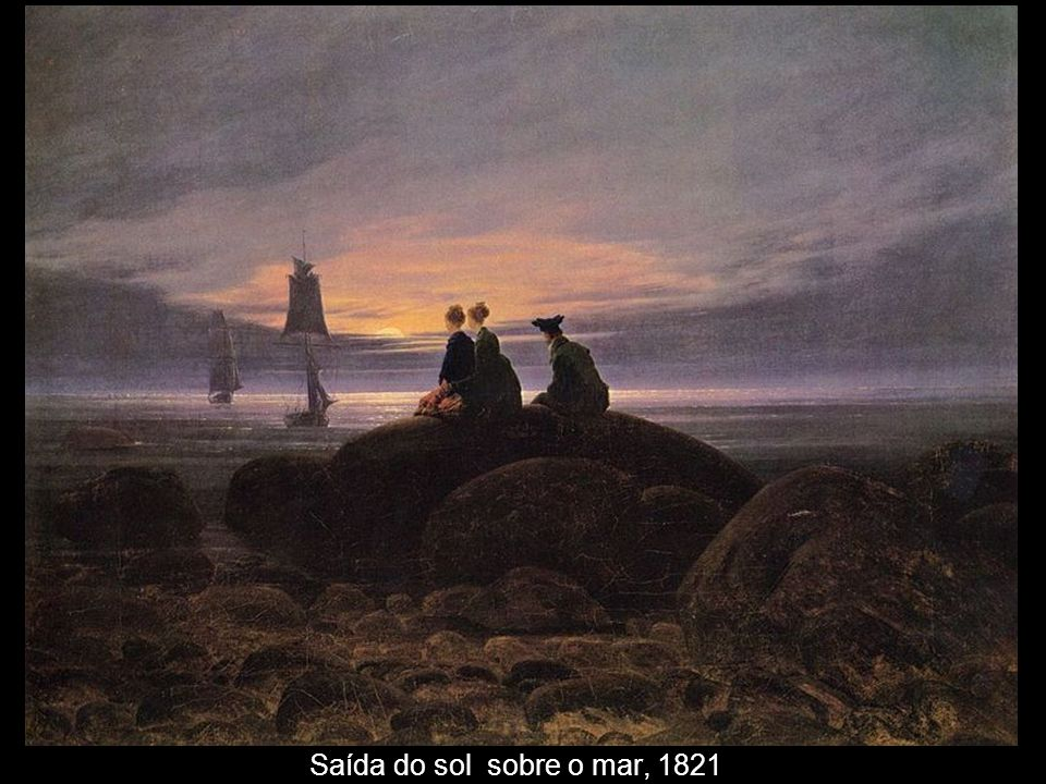 Saída do sol sobre o mar, 1821