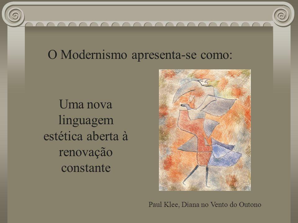 O Modernismo apresenta-se como: