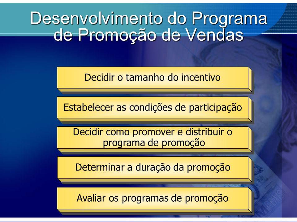Desenvolvimento do Programa de Promoção de Vendas