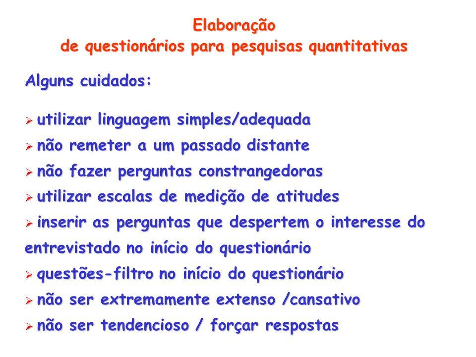 de questionários para pesquisas quantitativas