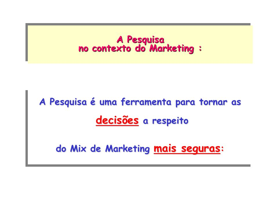 no contexto do Marketing :