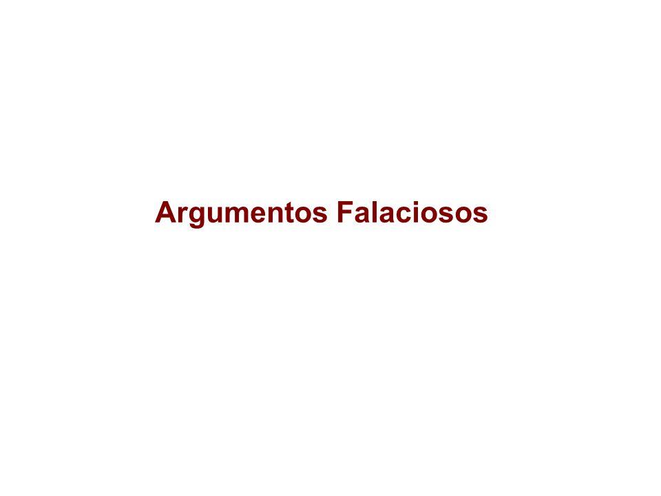 Argumentos Falaciosos
