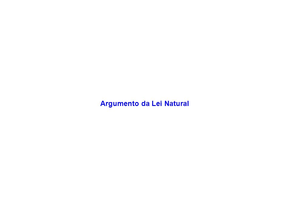 Argumento da Lei Natural