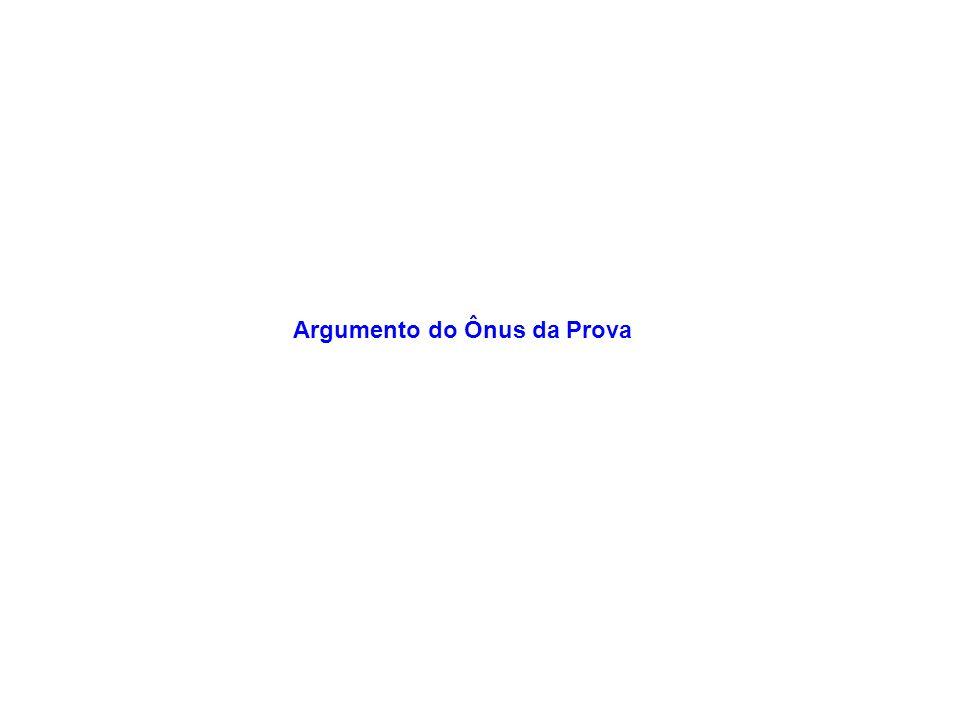 Argumento do Ônus da Prova