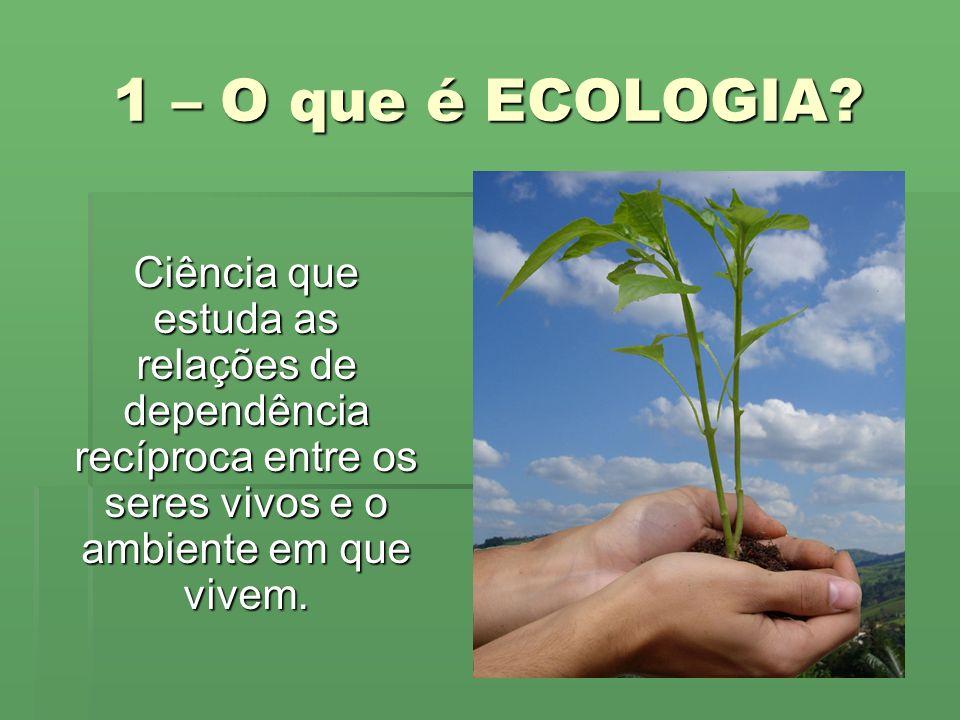 1 – O que é ECOLOGIA.