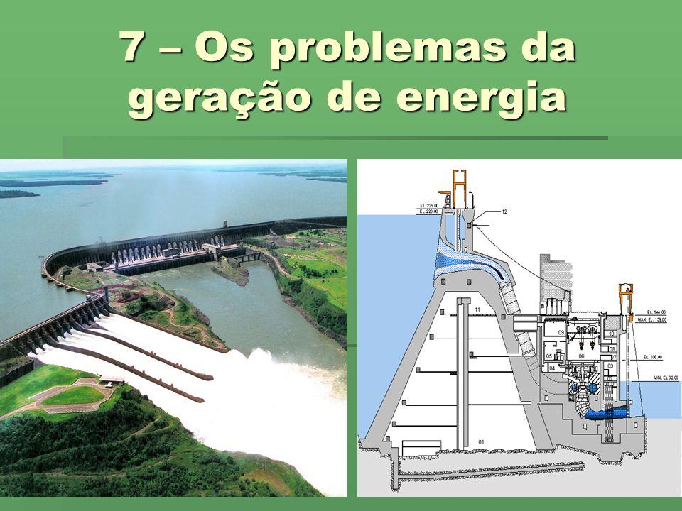 7 – Os problemas da geração de energia