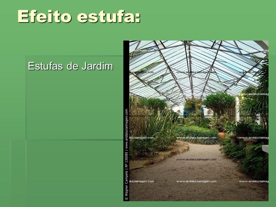 Efeito estufa: Estufas de Jardim