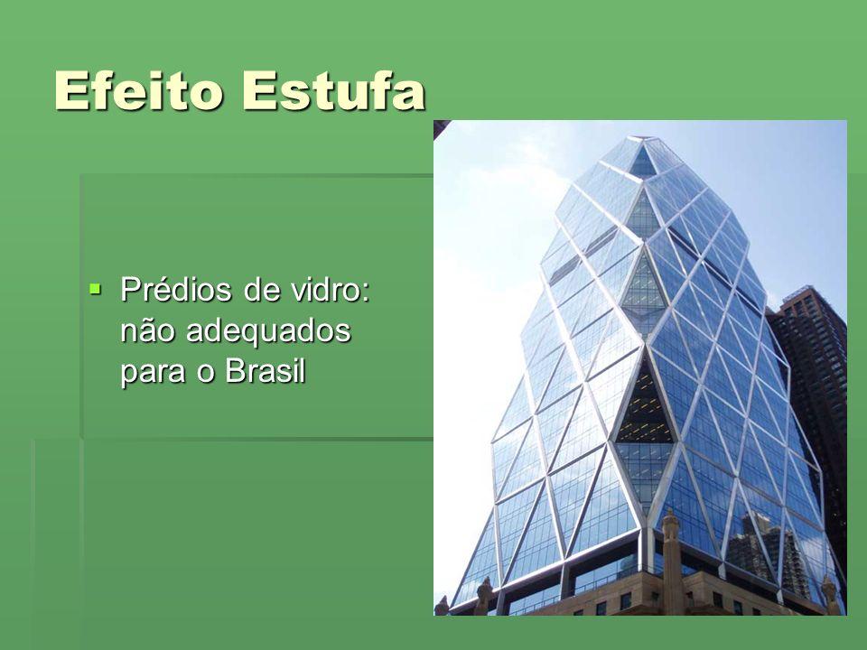 Efeito Estufa Prédios de vidro: não adequados para o Brasil