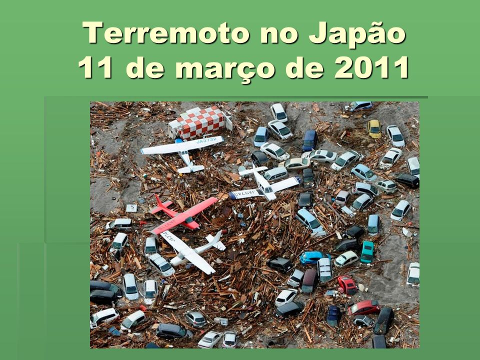 Terremoto no Japão 11 de março de 2011