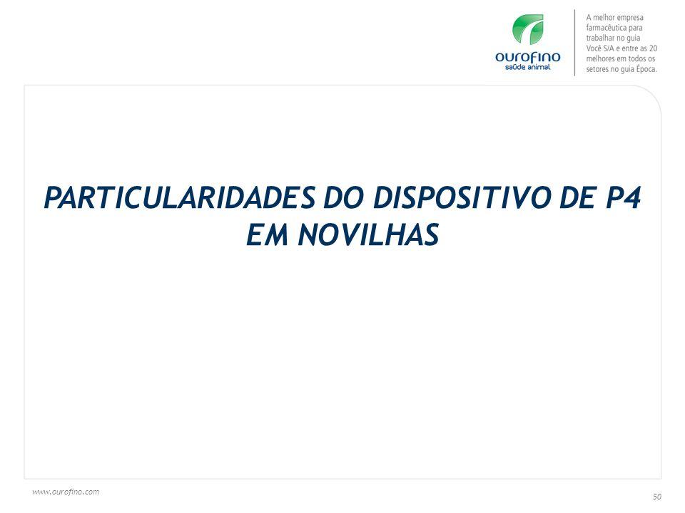 PARTICULARIDADES DO DISPOSITIVO DE P4 EM NOVILHAS