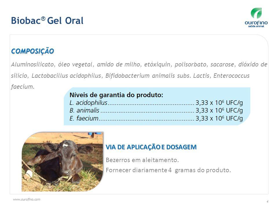 Biobac® Gel Oral COMPOSIÇÃO VIA DE APLICAÇÃO E DOSAGEM