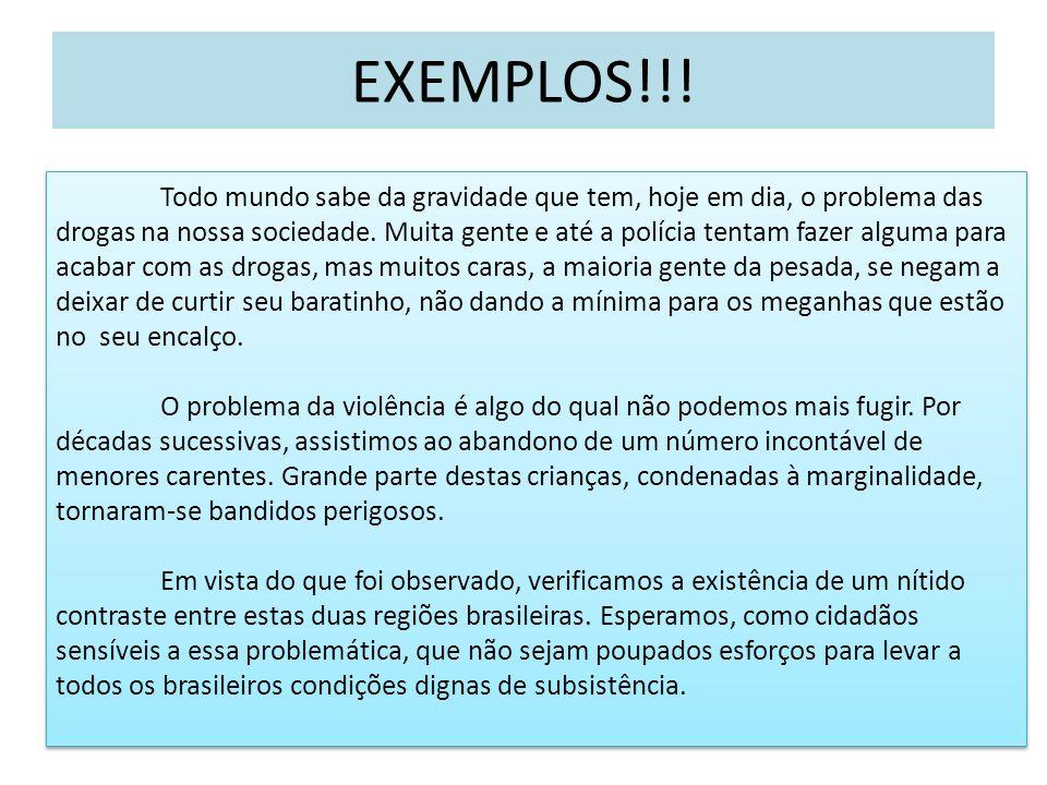 EXEMPLOS!!!