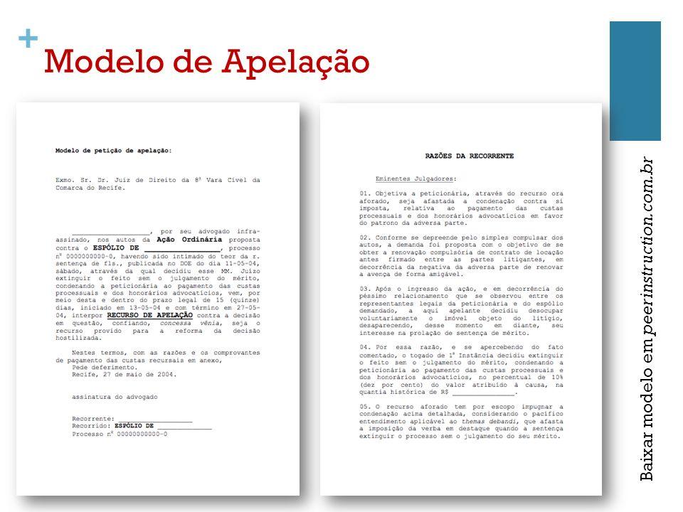 Modelo de Apelação Baixar modelo em peerinstruction.com.br