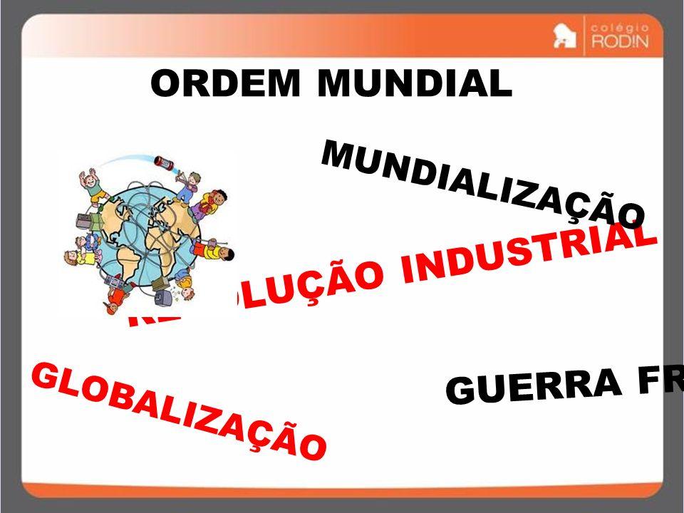 ORDEM MUNDIAL REVOLUÇÃO INDUSTRIAL GUERRA FRIA MUNDIALIZAÇÃO