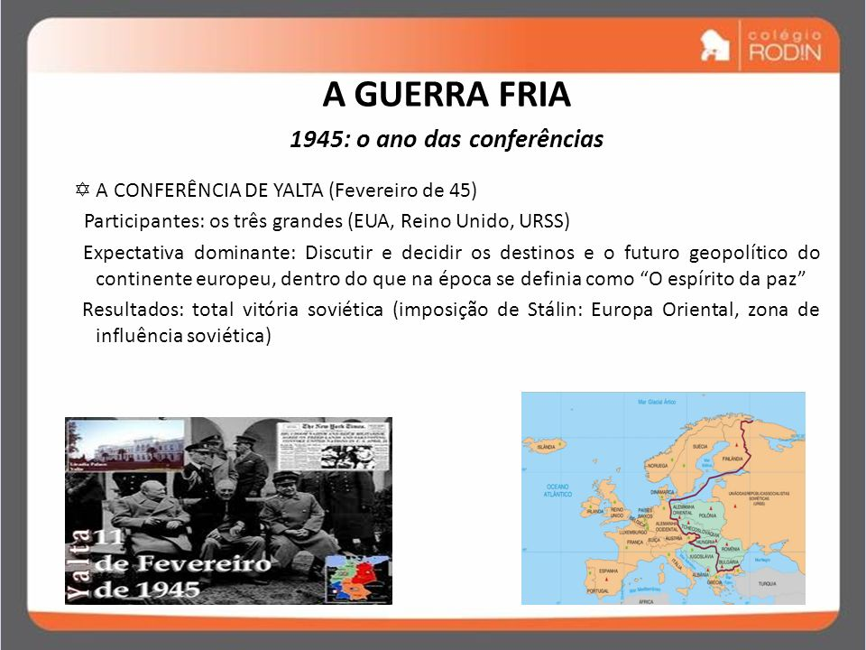 1945: o ano das conferências