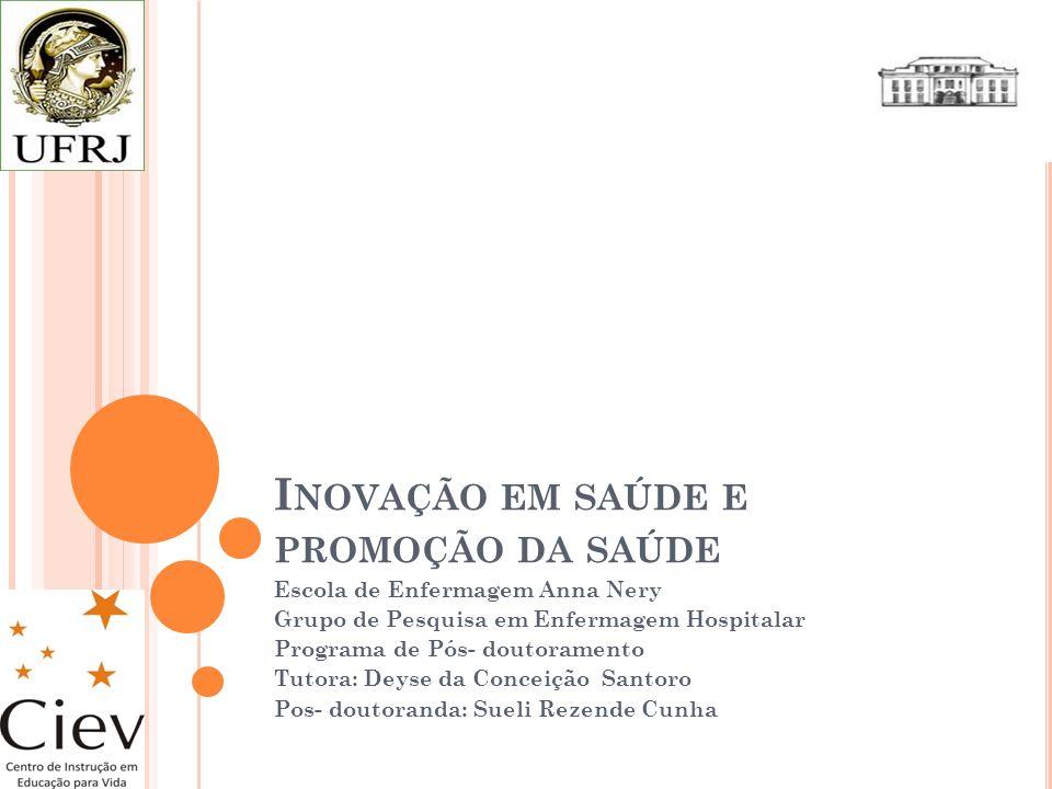 Inovação em saúde e promoção da saúde