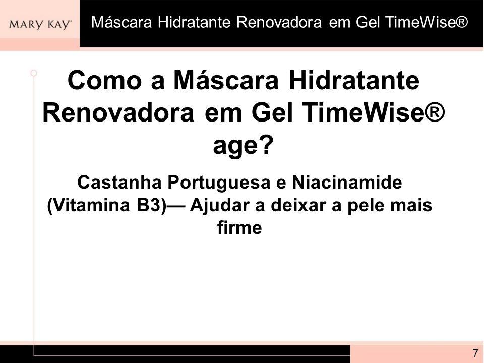 Como a Máscara Hidratante Renovadora em Gel TimeWise® age