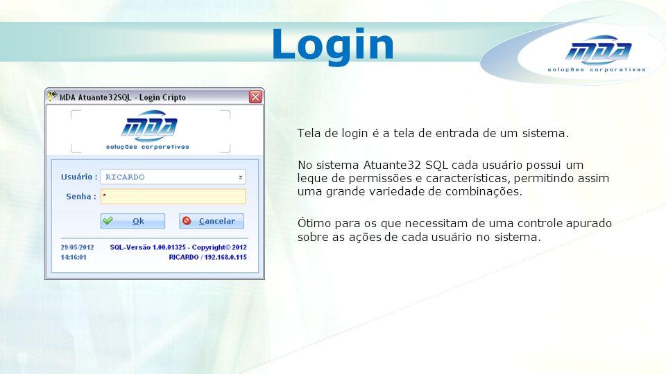 Login Tela de login é a tela de entrada de um sistema.