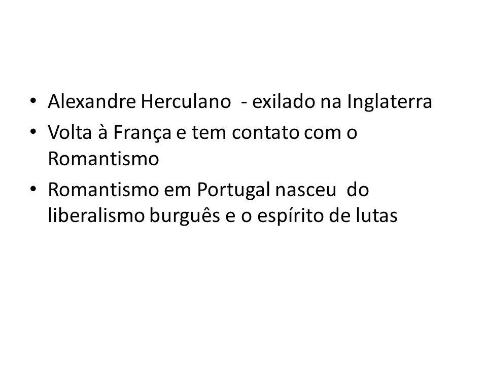 Alexandre Herculano - exilado na Inglaterra