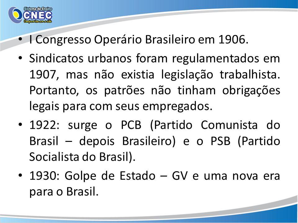 I Congresso Operário Brasileiro em 1906.