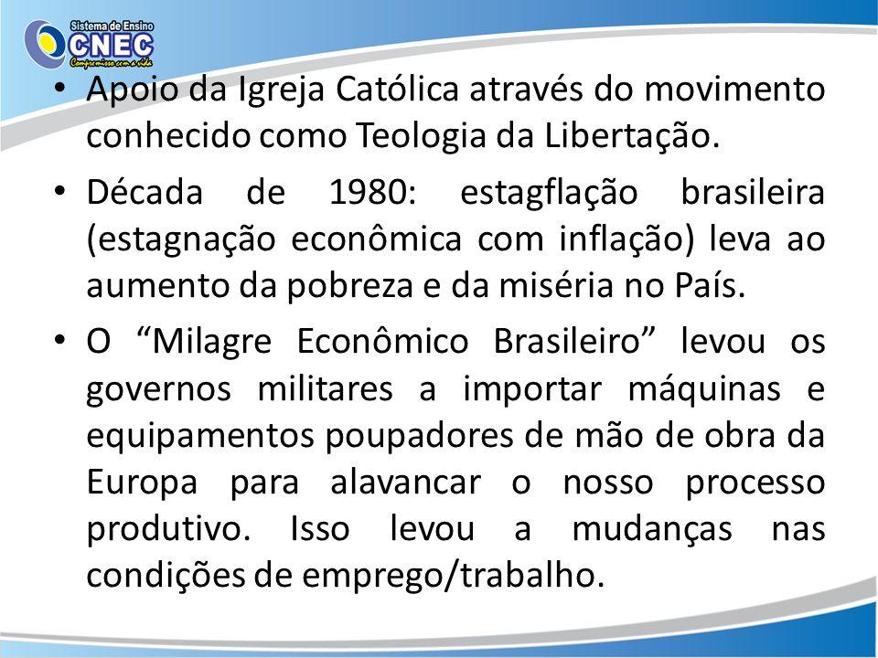 Apoio da Igreja Católica através do movimento conhecido como Teologia da Libertação.