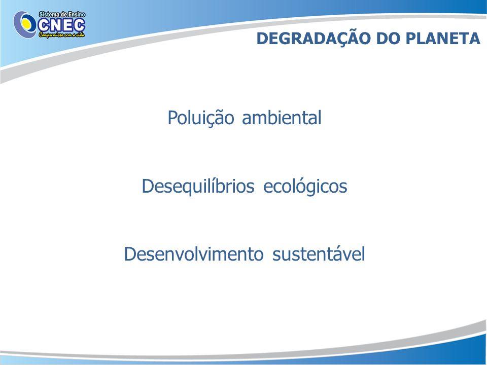 Desequilíbrios ecológicos