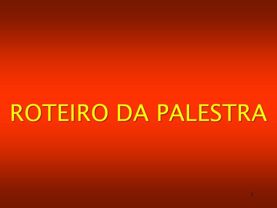 ROTEIRO DA PALESTRA