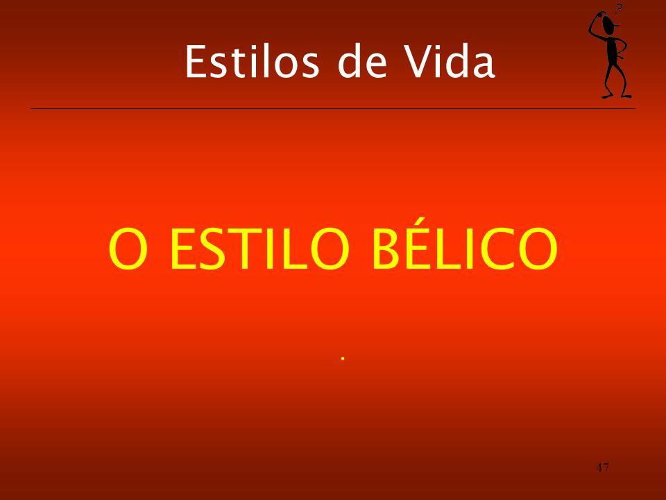 Estilos de Vida O ESTILO BÉLICO .