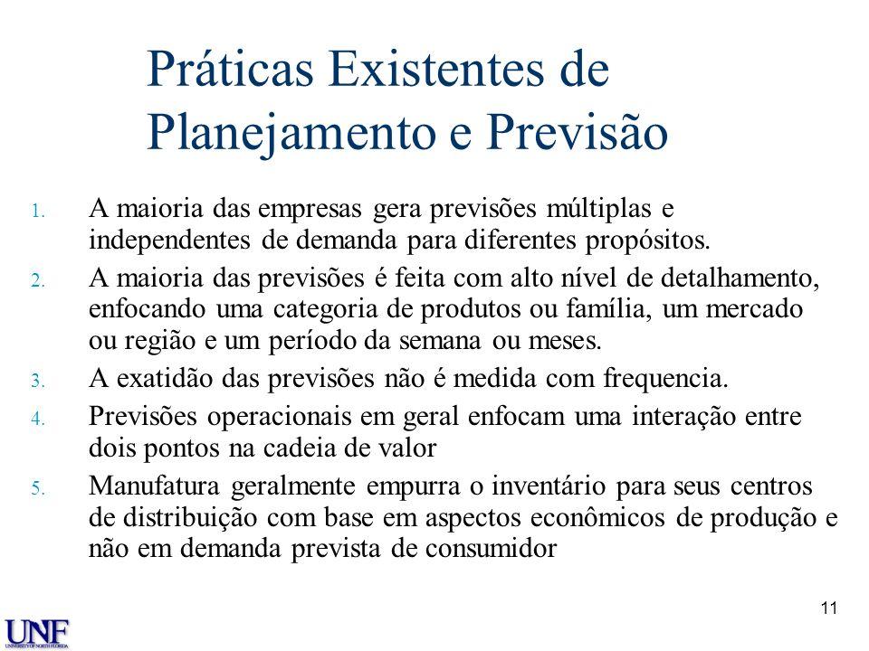 Práticas Existentes de Planejamento e Previsão