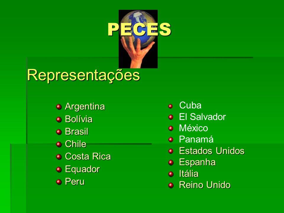 PECES Representações Argentina Bolívia Brasil Chile El Salvador
