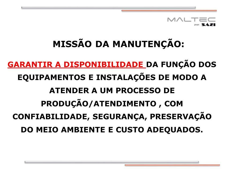 MISSÃO DA MANUTENÇÃO:
