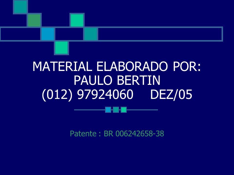 MATERIAL ELABORADO POR: PAULO BERTIN (012) 97924060 DEZ/05