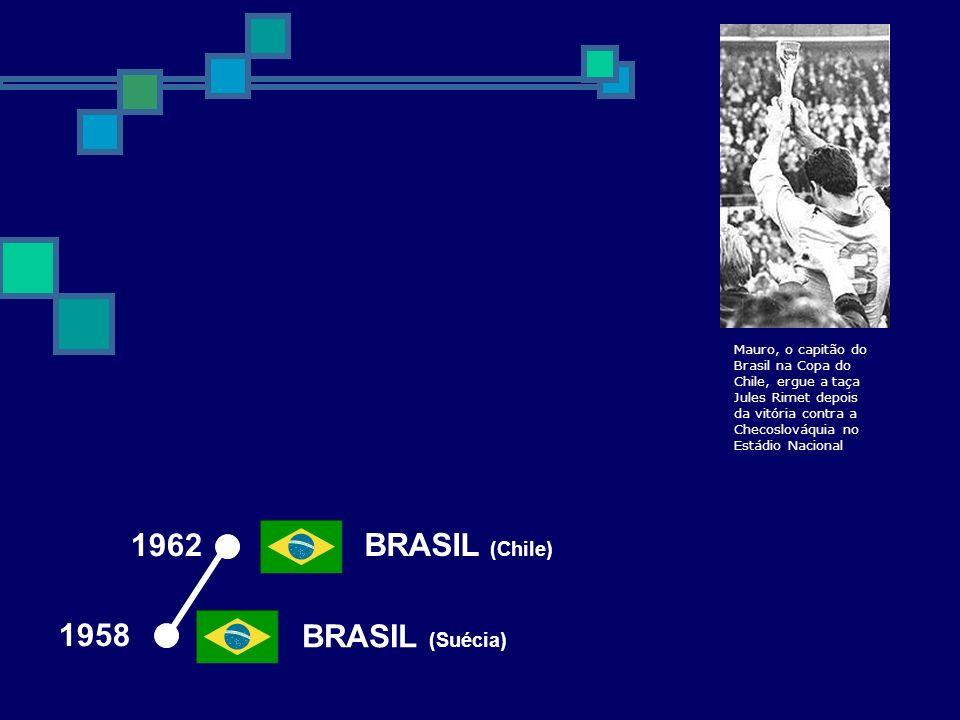 1962 BRASIL (Chile) 1958 BRASIL (Suécia)